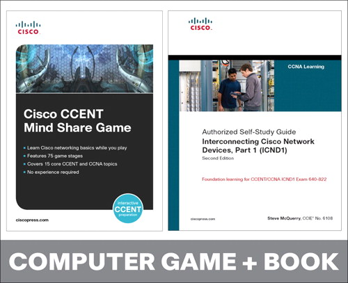 Cisco CCENT Mind Share Game and Interconnecting Cisco Network Devices, Part 1 (ICND1) Bundle, 2nd Edition