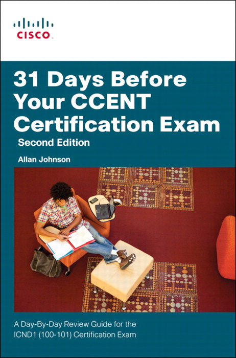 31 days before your ccna exam 31 days before your ccent certification offers you a personable and practical way to understand the certification process and commit to taking the 640-822 icnd1.