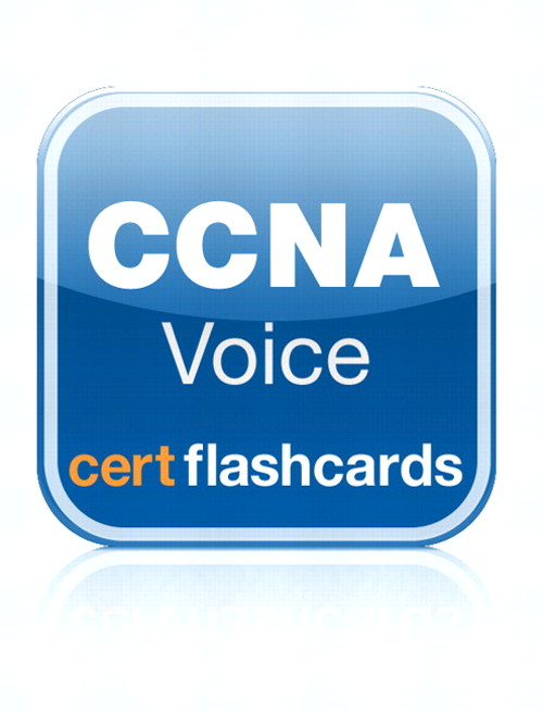 Cisco CCNA Voice 640-460 Cert Flash Cards, App (iPhone)
