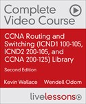 CCNA Routing and Switching (ICND1 100-105, ICND2 200-105, and CCNA 200-125) Library with Practice Test, 2nd Edition