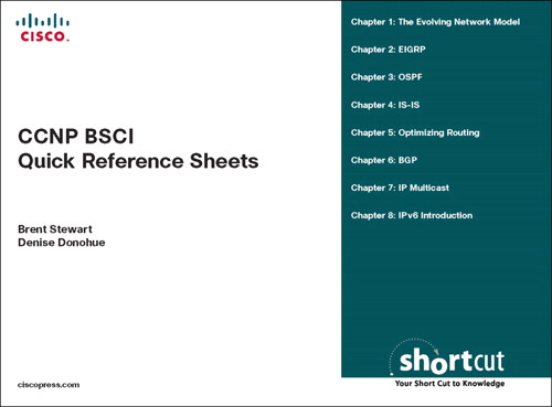 CCNP BSCI Quick Reference Sheets: Exam 642-901 (Digital Short Cut)