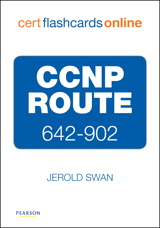 CCNP ROUTE 642-902 Cert Flash Cards Online:
