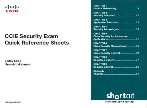 CCIE Security Exam Quick Reference Sheets