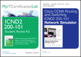 Cisco CCNA R&S ICND2 200-101 OCG, AE and Network Simulator and MyITCertificationlab Bundle