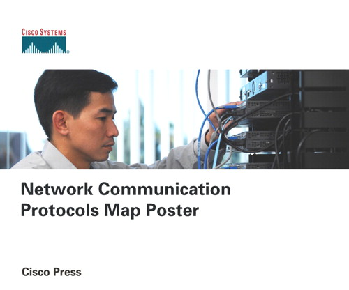 Network Communication Protocols Map Poster