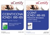 CCENT ICND1 100-105 Pearson uCertify Course and Network Simulator Academic Edition Bundle