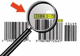 Example of an ISBN on a Product.